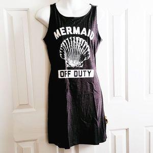 NWOT LC Trendz Mermaid Off Duty Shift Dress Beach